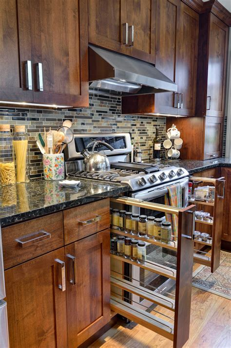 Innovative keurig k cup holder in Kitchen Traditional with Cutlery Storage next to Beverage Bar