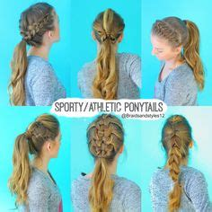 how to style hair for track and field athletic hairstyles on pinterest sporty ponytail cute