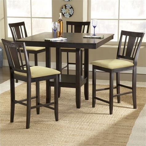 Height Dining Table Set Hillsdale Arcadia 5 Square Counter Height Dining Table Set 4180dtbsg