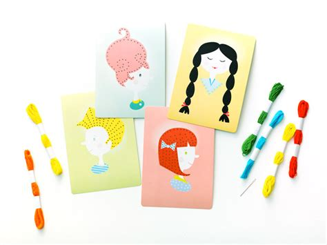 card kits for children teach your child to sew with hairstyle lacing cards