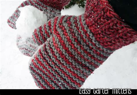 free knitting pattern for mittens on 2 needles easy garter mittens on 2 needles knitting pattern on luulla
