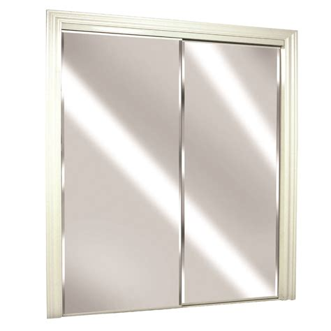 closet doors with mirrors shop reliabilt flush mirror sliding closet interior door