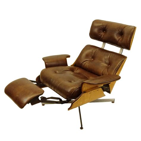 eames chair recliner mid century modern plycraft eames style recliner with