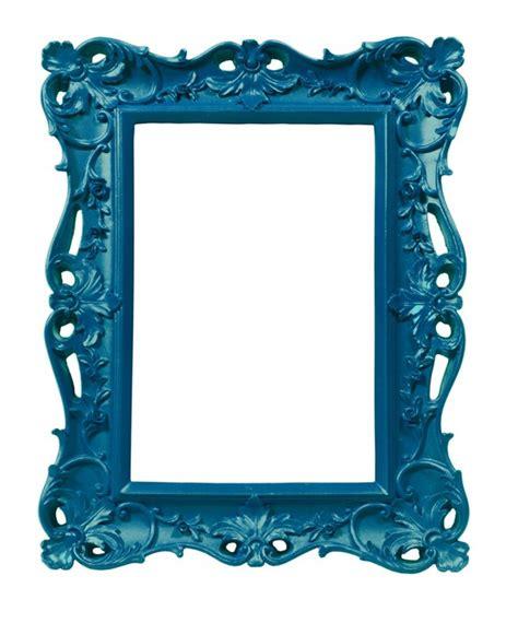 sticker cadre de style ancien baroque bleu artiste sticker mural pixers fr