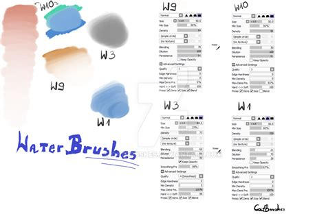 paint tool sai 2 textures 25 paint tool sai brush water brushes by catbrushes on
