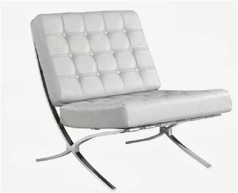 White Leather Accent Chair by Barcelona White Leather Accent Chair Modern Living