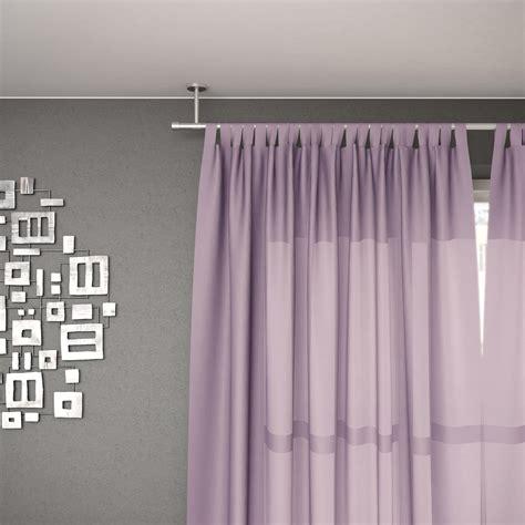tringle 224 rideau fixation au plafond inox mat 160 cm