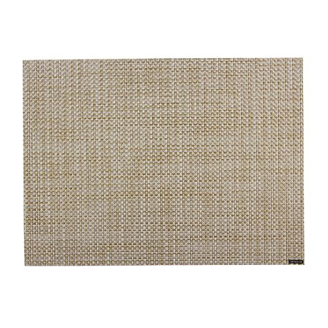 white beaded placemats buy chilewich basketweave rectangle placemat white gold