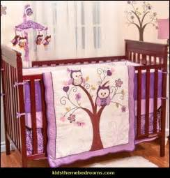 purple owl crib bedding decorating theme bedrooms maries manor owl theme