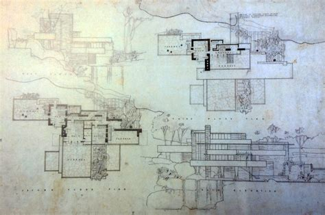 fallingwater floor plans frank lloyd wright waterfall house floor plans