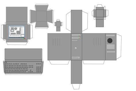 craft computer paper papercraft simple computer by norgas on deviantart