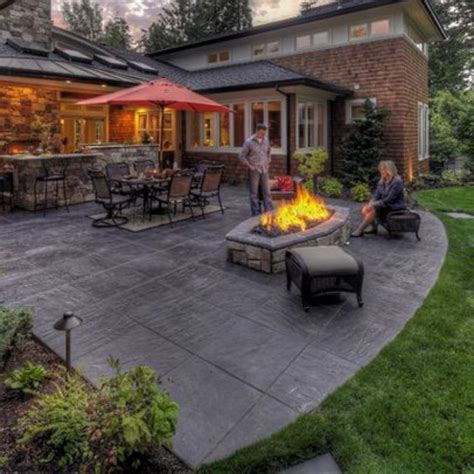 backyard concrete patio designs concrete patio ideas designed for your house concrete