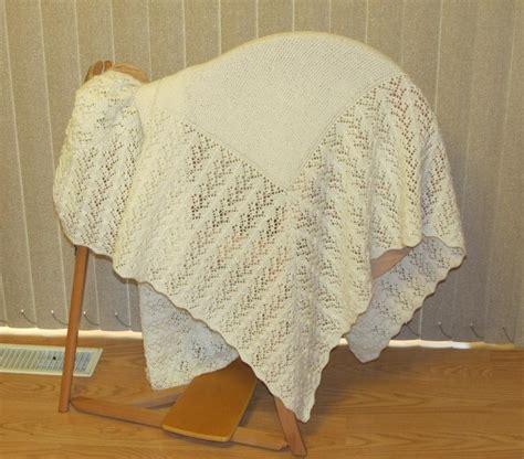 baby knitted shawl hush a bye baby shawl by nittineedles knitting pattern