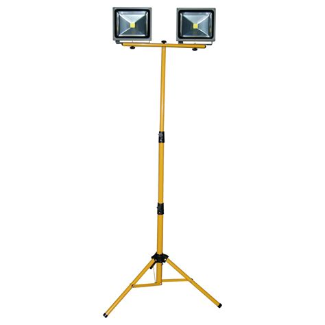 how led lights work 40w led work light with tripod stand construction site