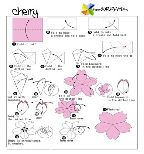 how to make a origami flower easy flower origami cherry flower paper origami guide
