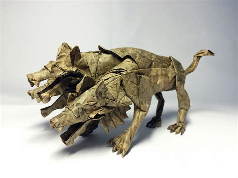 cerberus origami mythology brought to through some