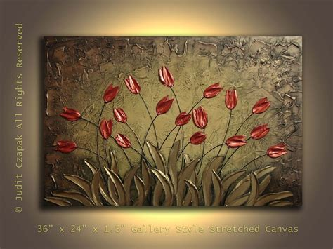 Made Original Modern Textured Painting On Canvas By