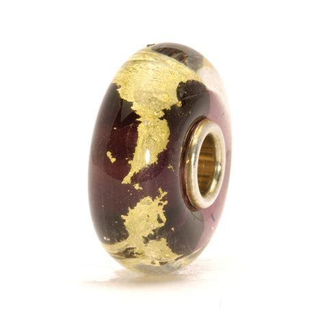 trollbeads chakra trollbeads third eye glass charm bead in purple lyst
