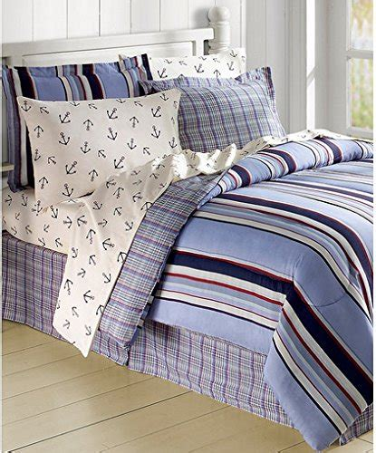nautical bed in a bag sets striped nautical anchors comforter set bed in a bag