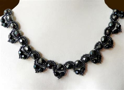 free beaded jewelry patterns free pattern for beaded necklace chantal magic