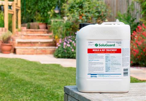 spray painting untreated wood stop to outdoor wood mould and rot with soluguard