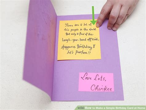 make an birthday card 4 ways to make a simple birthday card at home wikihow