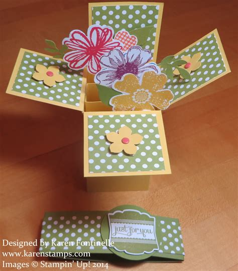 how to make a card in a box flower shop pop up box card sting with