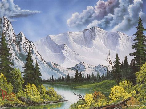 The Of Painting With Bob Ross Winter Mountains