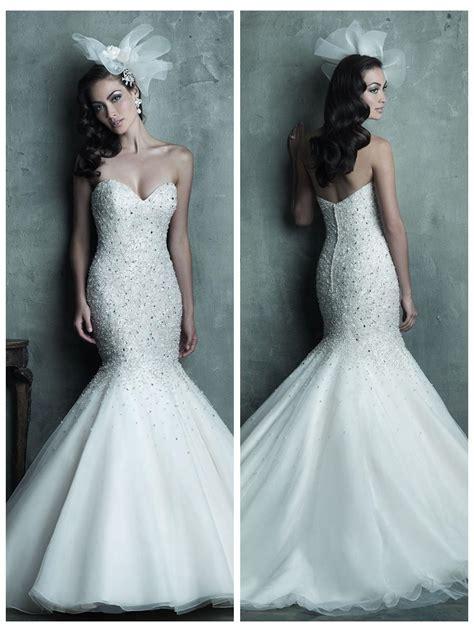 strapless beaded mermaid wedding dress strapless sweetheart beaded bodice mermaid wedding dress