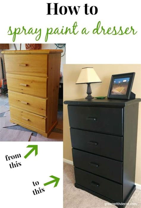 spray painting dresser green with decor spray painting the dresser