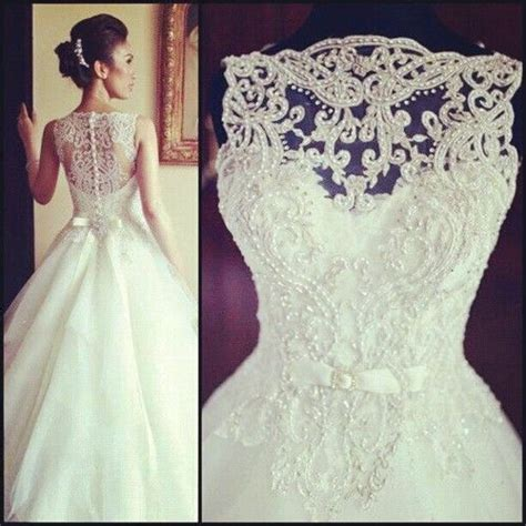 lace beaded wedding dress vintage sleeveless princess beaded lace and tulle wedding