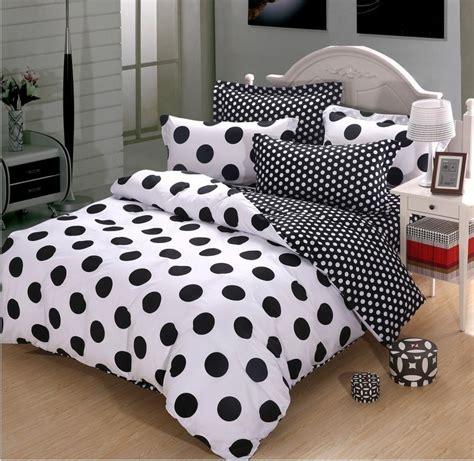 polka dots bedding set black and white polka dot cotton duvet cover bedding black