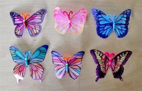 butterfly craft for milk jug decorative window crafts alpha