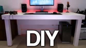 desk pc build building a custom pc desk no visible cables