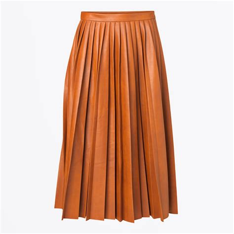 leather pleated skirt asla pleated leather skirt pleated skirts by malene birger