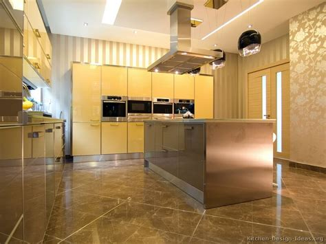 yellow and brown kitchen ideas contemporary kitchen cabinets pictures and design ideas