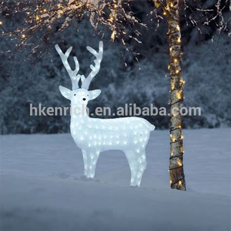 reindeer outdoor lights 120cm led light up acrylic reindeer outdoor