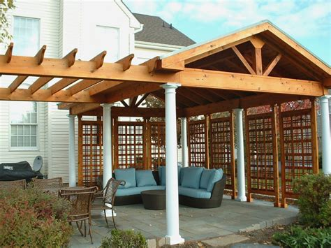 how to cover a pergola from exterior how to cover your deck with wooden pergola