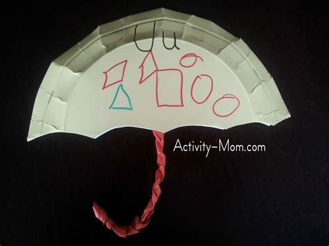 paper plate umbrella craft the activity paper plate alphabet craft u is for