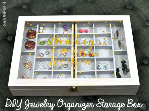 make your own jewelry organizer diy jewelry organizer storage box tutorial consumer crafts