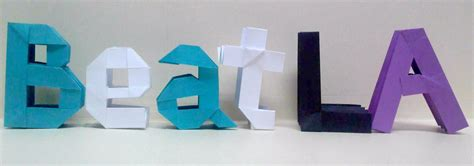 origami letter l beat la origami letters by theorigamiarchitect on deviantart