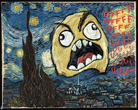 paint nite meme vincent gogh the starry