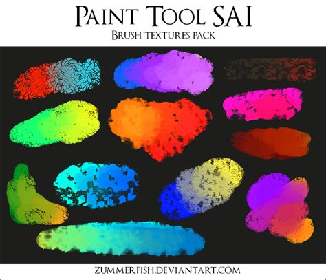 Sai Brushtex Pack Ii By Zummerfish By Zummerfish On Deviantart