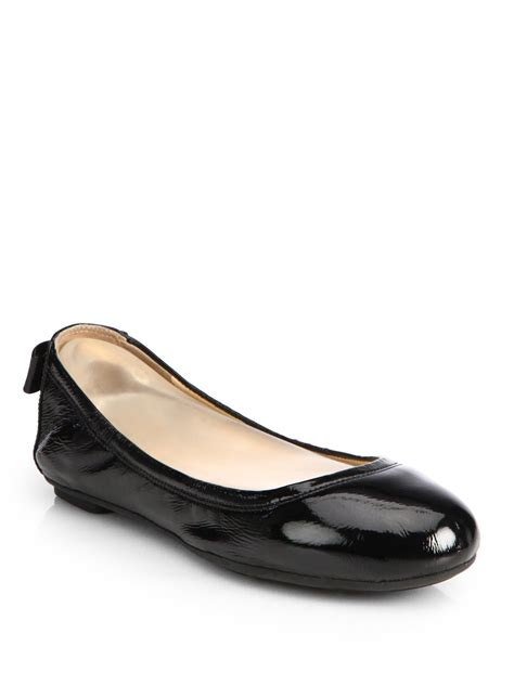 patent leather ballet flats cole haan manhattan patent leather ballet flats in black lyst