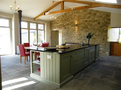 Country Style Kitchen Island barn conversion manor farm house glanvilles wootton