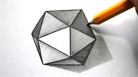how to draw 3d how to draw a 3d hexagon