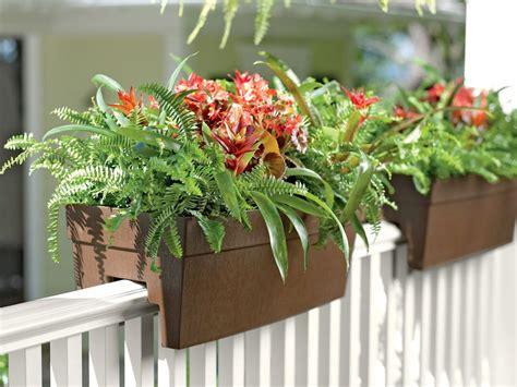 self watering railing planter deck railing planter for 2x4 or 2x6 railings