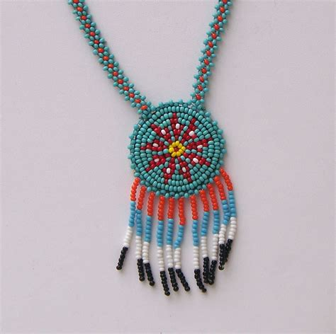 indian beaded jewelry american beaded necklace 1965 tourist souvenir
