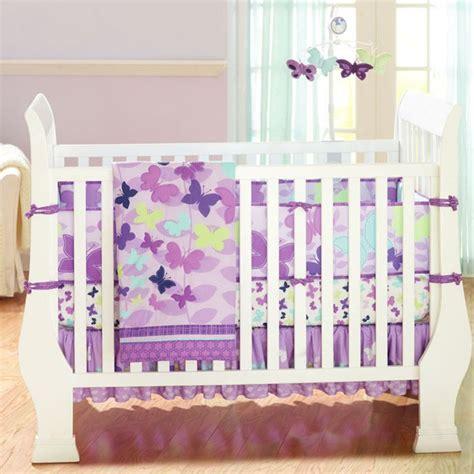 baby crib bedding sets purple butterly purple 4pcs baby crib bedding set quilt