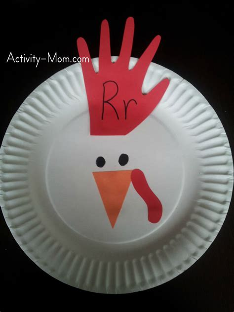 paper plate chicken craft the activity paper plate alphabet craft r is for